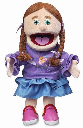 "14"" Amy, Peach Girl, Hand Puppet"