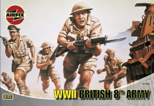Airfix A01709 WWII British 8th Army 1:72 Scale Series 1 Plastic Figures by Airfix