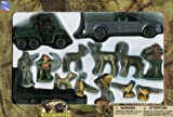 hunting trucks - Hunting Play Set Metal Truck ATV Hunters Deer Pheasants Dog & More