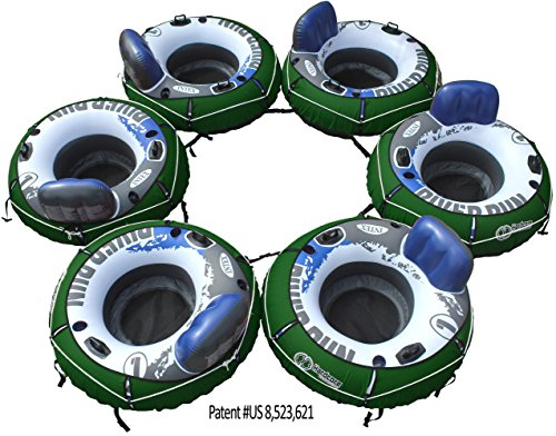 Linking Intex River Run I Tube with Heavy Duty Forest Green Cover - Set of 6 Tubes