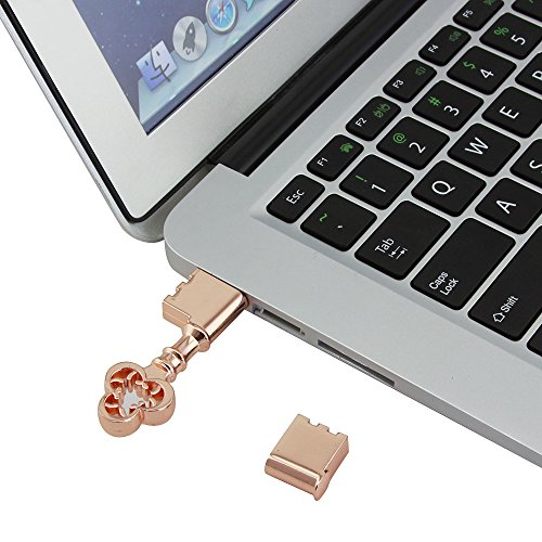 CHUYI 20PCS Waterproof Metal Rose Gold Key Shape 8GB USB 2.0 Flash Drive Pen Drive Memory Stick USB Stick USB Drive Thumb Drive Gift by CHUYI (Image #6)