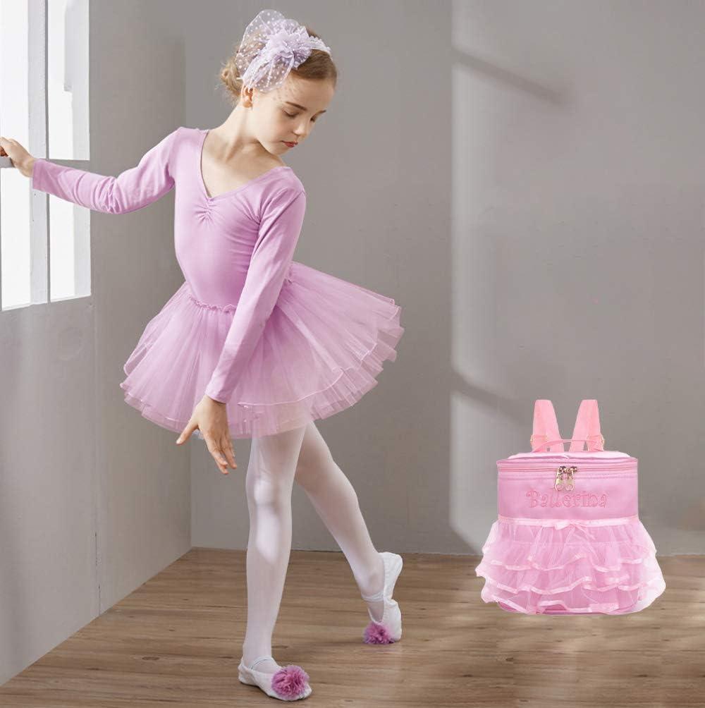 Belegao Sac de Danse pour Filles Enfants Ballet Personnalis/é Sac de Gymnastique Sac de Sport Kit Sac de Danse Sac /à Dos r/églable pour Enfants Cadeau danniversaire Rose