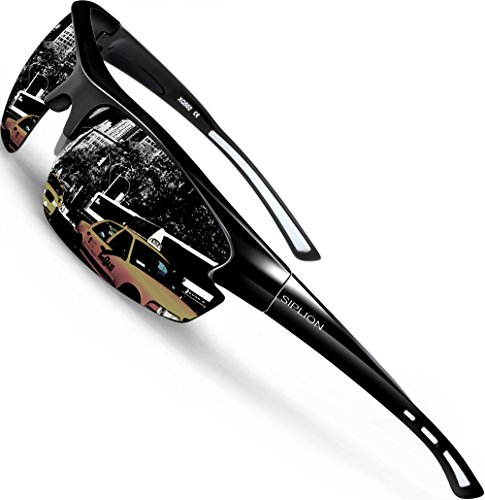 Siplion Polarized Sunglasses Sports Glasses for Cycling Fishing Golf