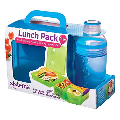 Sistema Lunch Collection Lunch Box and Bottle Pack, Color Received May Vary by Sistema