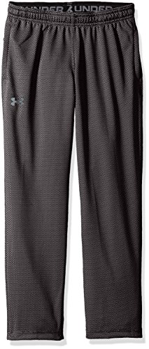Under Armour Boys' Tech Textured Pants,Black (002)/Graphite, Youth -