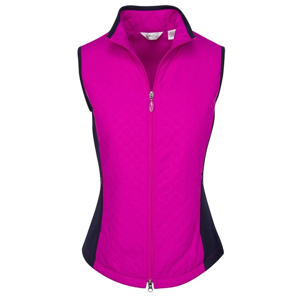 Greg Norman Sonic Embossed Quilted Golf Vest 2017 Women Fuchsia Small by Greg Norman (Image #1)