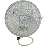 mistcooling Misting Fan Kit - Low Pressure Misting Fan System - Fan NOT Included - with Brass/Stainless Steel Nozzles - UV Treated Tubing (12