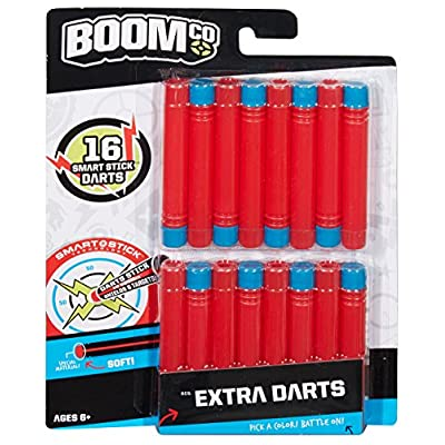 BOOMco. Extra Darts Pack, Red with Blue Tip: Toys & Games