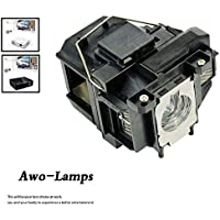 AWO ELPLP67 / V13H010L67 Premium Quality Compatible Replacement Lamp with Housing Fit for EPSON EB-S02/S11/S12/SXW11/SXW12/W02/W11/W12/W16/X02/X11/X12/X14/X15