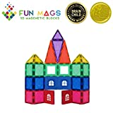 Fun Mags 3D Magna Tiles Building Blocks Strongest Magnets Vivid Clear Colors Educational Toys for Kids ,Creative Magnetic Tiles for Children 36 Pieces