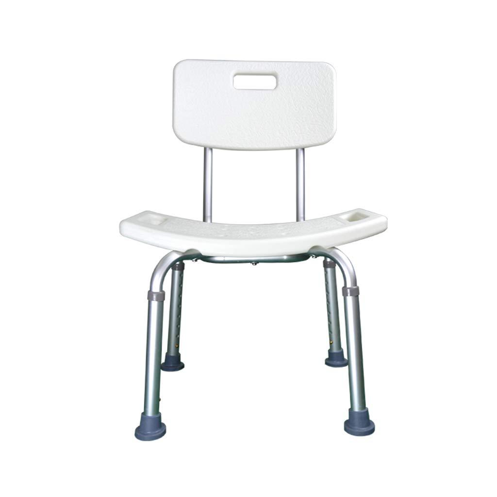 ZLL-Duschhocker Badezimmer-Schemel/Badezimmer-Schemel/ältere Schwangere Frauen Anti-Rutsch-Duschstuhl- / Duschsitz mit der Rückenlehne/höhenverstellbar / Last, die 100kg trägt