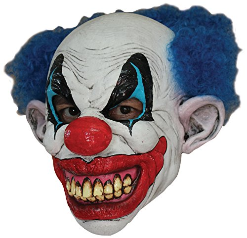 UHC Men's Horror Puddles the Killer Clown Latex Mask Halloween Costume Accessory