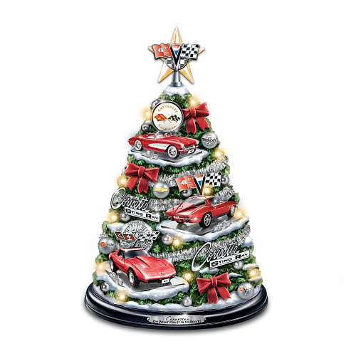 The Bradford Exchange Corvette Tabletop Christmas Tree: Oh What Fun It is to Drive (Best Corvette Ever Made)
