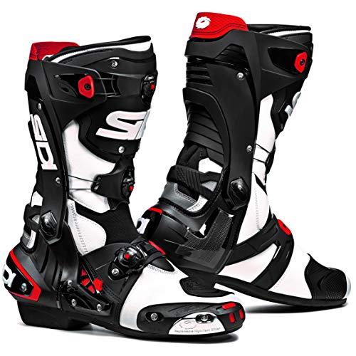 Sidi Rex Motorcycle Boots (7.5/41, White/Black)