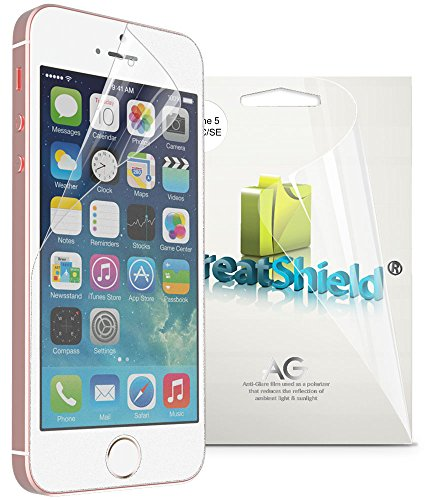 iPhone SE Screen Protector, GreatShield Anti-Glare (Matte) Screen Protector Film for Apple iPhone SE / 5 / 5S / 5C (3 Pack) (Anti Smudge Screen Protector)