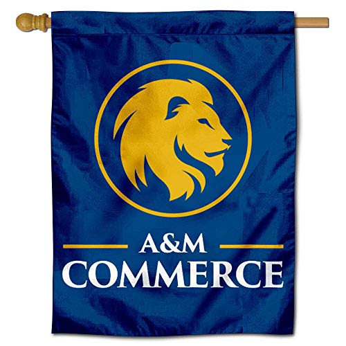 College Flags and Banners Co. Texas A&M Commerce Lions Gold Lion Double Sided House Flag