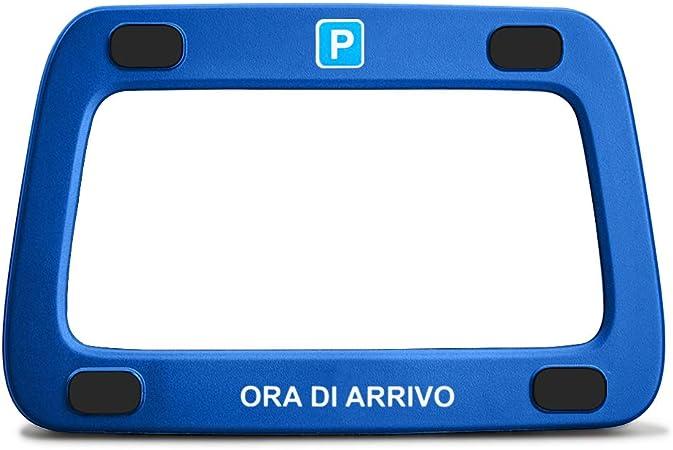 Achilles Parkwächter Scheibenadapter Für Italien In Blau Mit 4 Klebepads Und Reinigungstuch Auto
