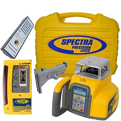 Spectra Precision GL412N-14 Single Slope Grade Laser with CR600 Receiver and Ni-MH Batteries