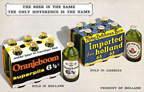 Orangeboom Flying Dutchman Beer Alcohol Advertisement Vintage Postcard K54918