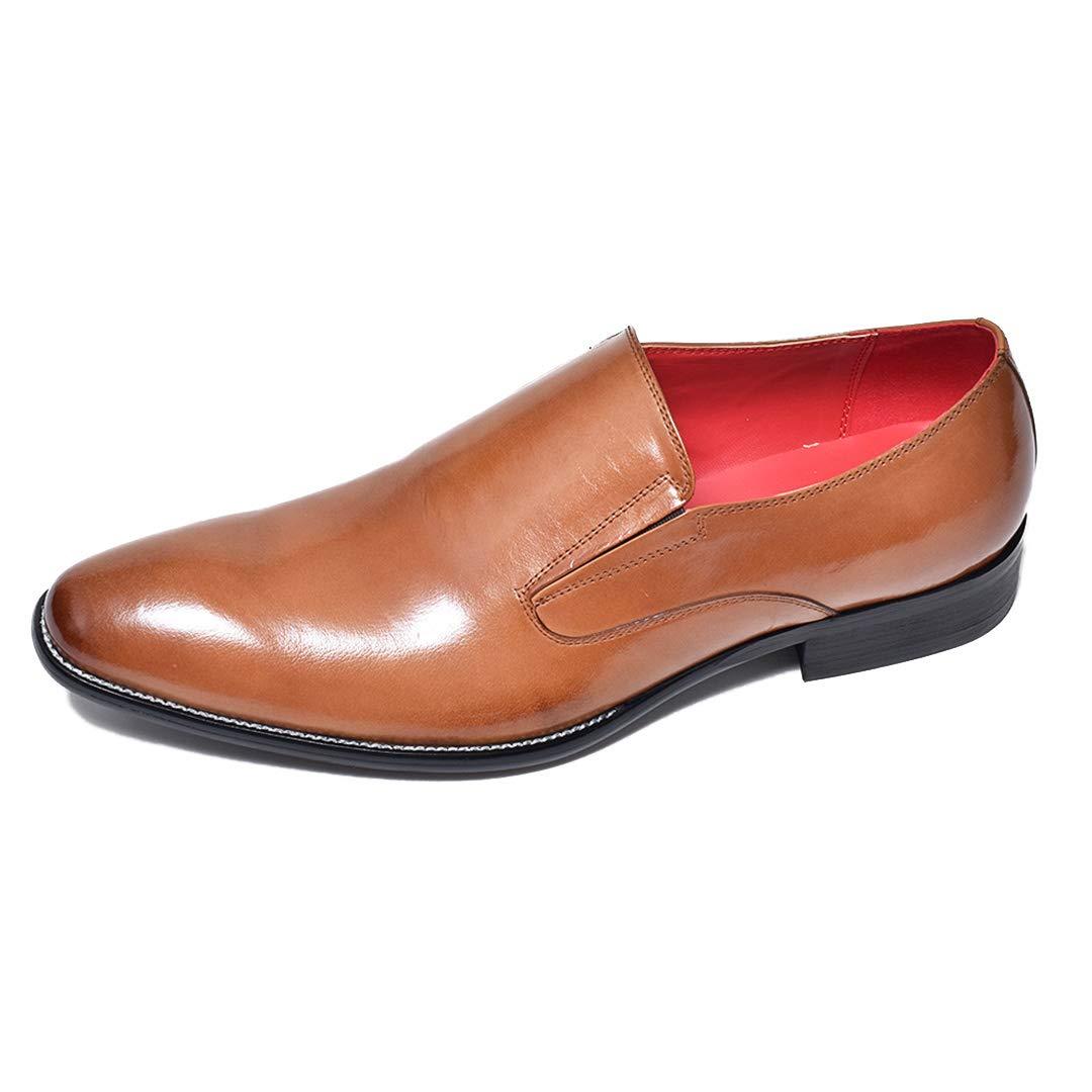 [ルシウス] ビジネスシューズ レースアップシューズ オックスフォードシューズ メンズ 革靴 紳士靴 本革 牛革 レザー 何種類もの中から選べる [ BZB016 ] 109-90 ブラウン 26.0 cm