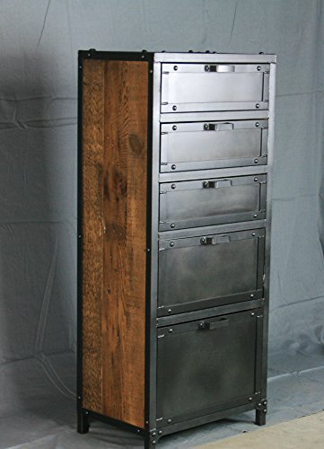 Modern industrial lingerie chest. Industrial dresser. Reclaimed wood. Distressed (Loft 9 Drawer Dresser)