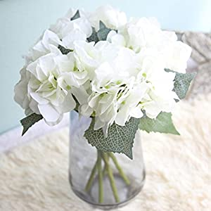 YJYdada Artificial Silk Fake Flowers Hydrangea Floral Wedding Bouquet Party Decor 5