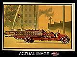 35 fire ladder - 1953 Bowman Firefighters # 35 1923 Service Ladder Truck (Card) Dean's Cards 5 - EX 1670210