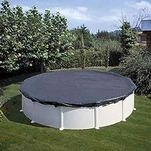 Gre CIPR401 - Cobertor de Invierno para Piscina Redonda de 400 cm de Diámetro, Color Negro