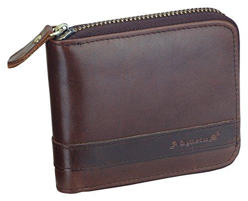 Men's Genuine Leather Bifold Wallet Zip-Around Card Holder Money Clip-Gift Wrapped