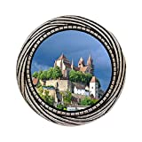GiftJewelryShop Ancient Style Silver Plate Travel Black Forest Germany Winding Pattern Pins Brooch