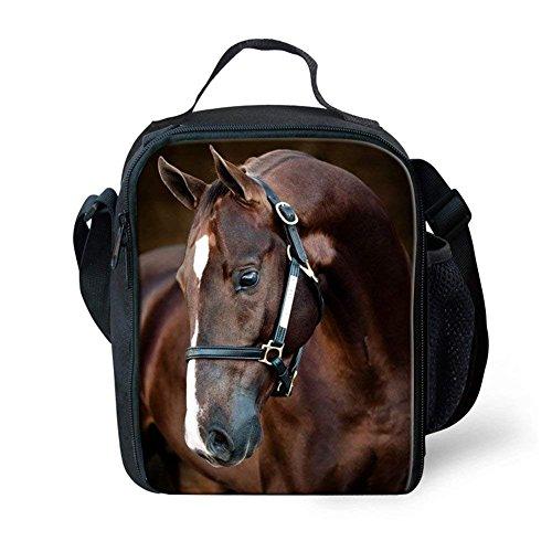 2 Cavalli I E Sacco Pranzo Personalizzabile Il Piccoli Bambini Sept Cavallo Showudesigns Per Al x1YagqWwwP
