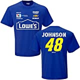NASCAR Men's-Driver/ Sponsor-Team Uniform T-Shirt-Jimmie Johnson #48-Royal-Large