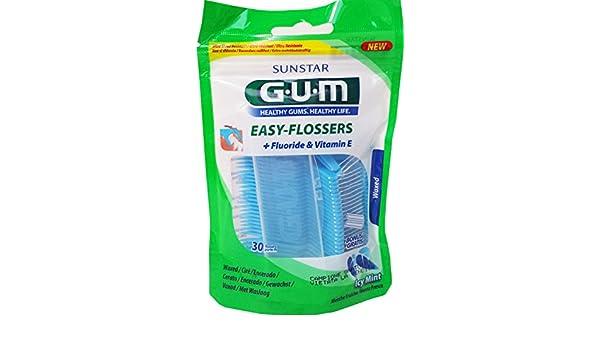 GUM Hilo de Dientes Con Colgador Easy Flossers Horquilla de un Solo Uso, 30 Unidades: Amazon.es: Salud y cuidado personal