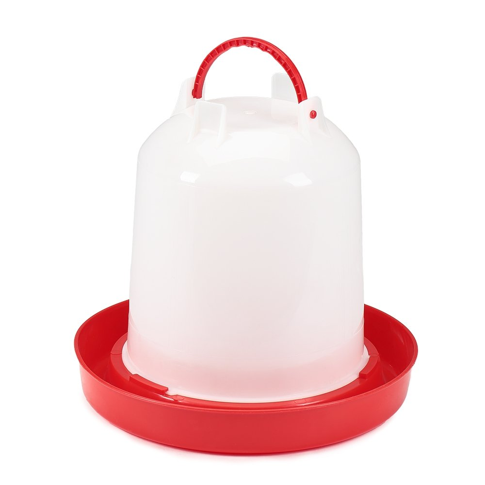 Melko® Plastic Poultry Drinker 6Litre chick Drinker Hühn Ertränke Bath Antibacterial Chickens Ducks Tränk Poultry