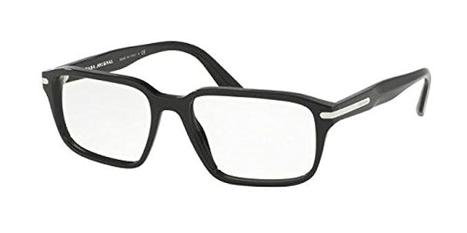 dcd13a597f3 Prada PR09TVF Eyeglass Frames 1AB1O1-55 - Black PR09TVF-1AB1O1-55 at Amazon  Men s Clothing store