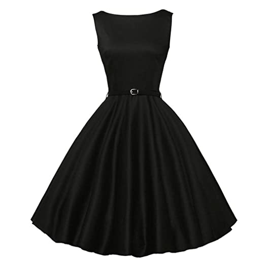 Women Sexy Floral Elegant Ball Gown Cocktail Dresses Audrey Hepburn 1950s Vintage Rockabilly Swing Tea