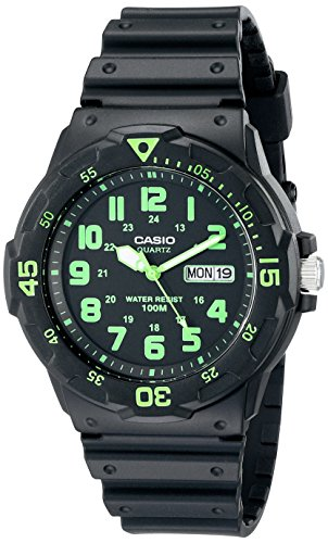 Casio Men's MRW200H-3BV Dive Style Neo-Display Sport Watch ()