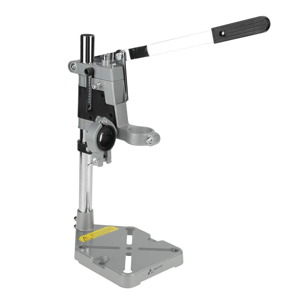 Akozon Benchtop Drill Presses, Workbench Clamp Drill Press Stand, Repair Tool for Drilling Aluminum Base, Adjustable Bench Clamp(Double Hole)