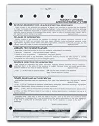 Alimed Assisted Living Residency Service Agreement 2 Part Form