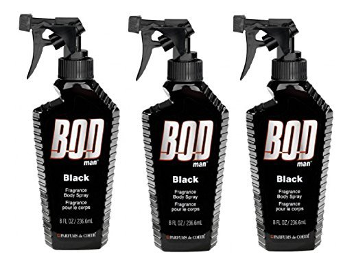Bod Man - Mens Body Spray - Black - Pack of 3