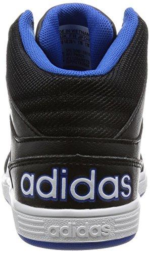 adidas HOOPS MID K - Zapatillas deportivaspara niños, Negro - (NEGBAS/FTWBLA/AZUL), -30