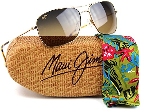 Maui Jim HS246-16 Wiki Wiki Polarized Sunglasses Gold Titanium Frame / Bronze - Wiki Polarized Lenses