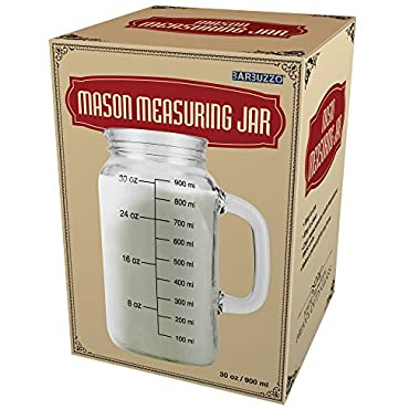 Barbuzzo Mason Measuring Jar, Clear