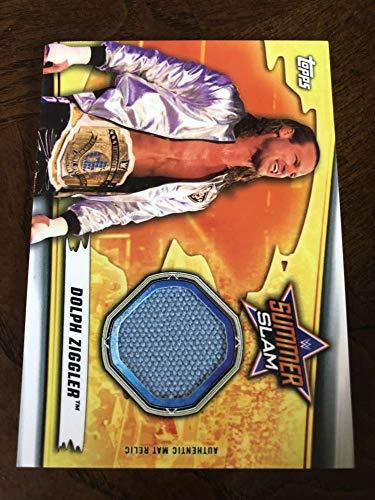 2019 WWE Topps SummerSlam Mat Relics #MR-DZ Dolph Ziggler MEM Official Wrestling Trading Card from WWE SummerSlam