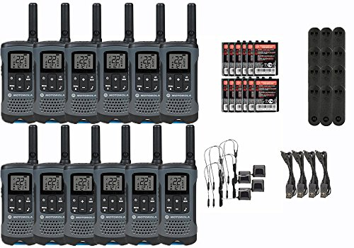 Motorola Talkabout T200TP Walkie Talkie 12 Pack Set Two Way Radio Package