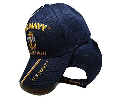 c6d4cf2609640 Amazon.com  U.S. Navy CPO Retired USN Ball Cap Hat Embroidered 3D ...