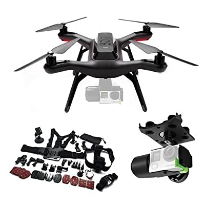 3D Robotics Solo Ready-to-Fly Aerial Photography Quadcopter Drone with 3DR Solo Gimbal for GoPro HERO3+ and HERO4 Cameras and Handheld Transmitter + Adorama GoPro 25 Accessory Kit