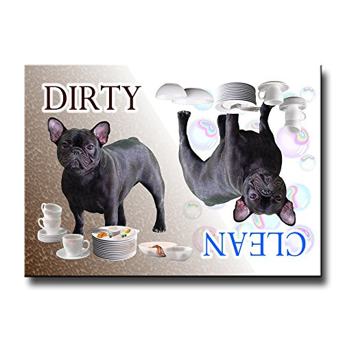 French Bulldog Clean Dirty Dishwasher Magnet No 4