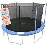 Upper Bounce Trampoline Safety Enclosure Net, Fits 10 FT Round Frame, Using 4 Poles (or 2 Arches) - Adjustable Straps