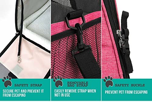 PetAmi Premium Airline Approved Soft-Sided Pet Travel Carrier by Ventilated, Comfortable Design with Safety Features | Ideal for Small to Medium Sized Cats, Dogs, and Pets 7